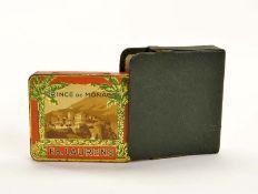 """Zigarettendose """"Prince de Monaco"""" mit Magnethalterungsetui, 8 cm, Blech, min. LM"""