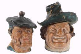 Zwei Siderolith Tabaktöpfe um 1900, Two siderolite tobacco pots around 1900,Keramik, Tabaktopf als
