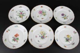 Bing & Gröndahl - 6 Jugendstil Kuchenteller, 6 art nouveau plates,