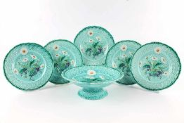 Villeroy & Boch Jugendstil Tafelaufsatz mit 5 Tellern, art nouveau bowl with 5 plates,