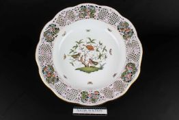 Riesige Prunkschale - Herend Rothschild #8400, bowl,Porzellan, Ungarn 20. Jahrhundert, Dekor
