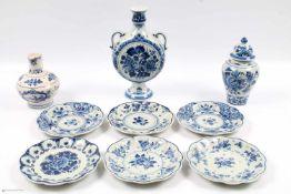 De Porceleyne Fles - 10-teilige Sammlung, Lot, 15-teiliges Porzellan Mokkaservice, Neubrandenstein