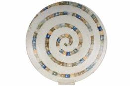 Bruno Gambone (*1936) Schale ciotola, bowl / wallplate,Majolika, 70er Jahre Künstlerkeramik,