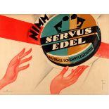Advertising Poster Servus Edel Shoe Care Art Deco