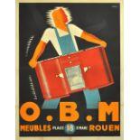 Advertising Poster OBM Meubles Art Deco by Havas
