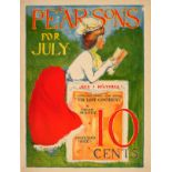 Advertising Poster Pearsons July Belle Epoque