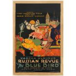 Advertising Poster Yascha Yushny's Russian Revue Blue Bird
