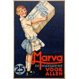 Advertising Poster Marva Margarine