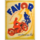 Advertising Poster Favor Cycles Motorcycles Matthey