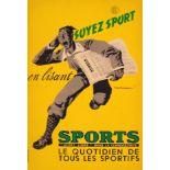 Advertising Poster Read Sport Newspaper