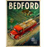 Advertising Poster Bedford Truck General Motors