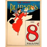Advertising Poster March Pearsons Magazine Belle Epoque