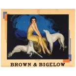 Advertising Poster Brown & Bigelow Art Deco Lady Rolf Armstrong