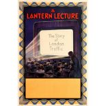Advertising Poster A Lantern Lecture The Story of London Traffic