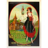 Advertising Poster Amaro Valsesia Alcohol Italy