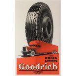 Advertising Poster Goodrich Tyres Trucks Art Deco