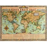 Advertising Poster Eno's Fruit Salt Illustrated World Map