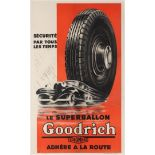 Advertising Poster Goodrich Car Tyres Art Deco