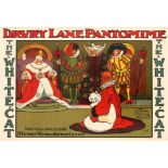 Advertising Poster Hassall Drury Lane Pantomime The White Cat
