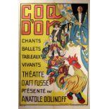 Advertising Poster Coq d'Or Golden Cockerel Russian Ballet