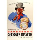 Advertising Poster Georges Bisson Camembert Cheese France