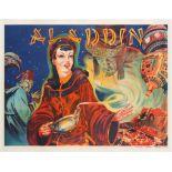Advertising Poster Theatre Alladin Pantomime UK