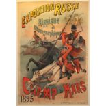 Advertising Poster Exposition Russe 1895 Belle Epoque