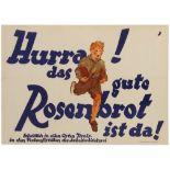 Advertising Poster Best Bread Austria Rosenbrot