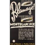 Advertising Poster Montblanc Pix Pen Blamage