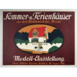 Advertising Poster Model Exhibition Summer Holiday Homes