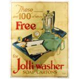 Advertising Poster Jolli Washer Soap Cartons