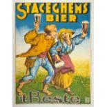 Advertising Poster Staceghem Bier Beste Beer Belgium