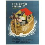Advertising Poster Clyde Shipping Company Ltd Noah's Ark Lennox Paterson 1960s