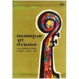 Advertising Poster Israel Music Drama Festival Kornowski Modernism