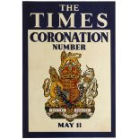 Advertising Poster The Times Coronation Number