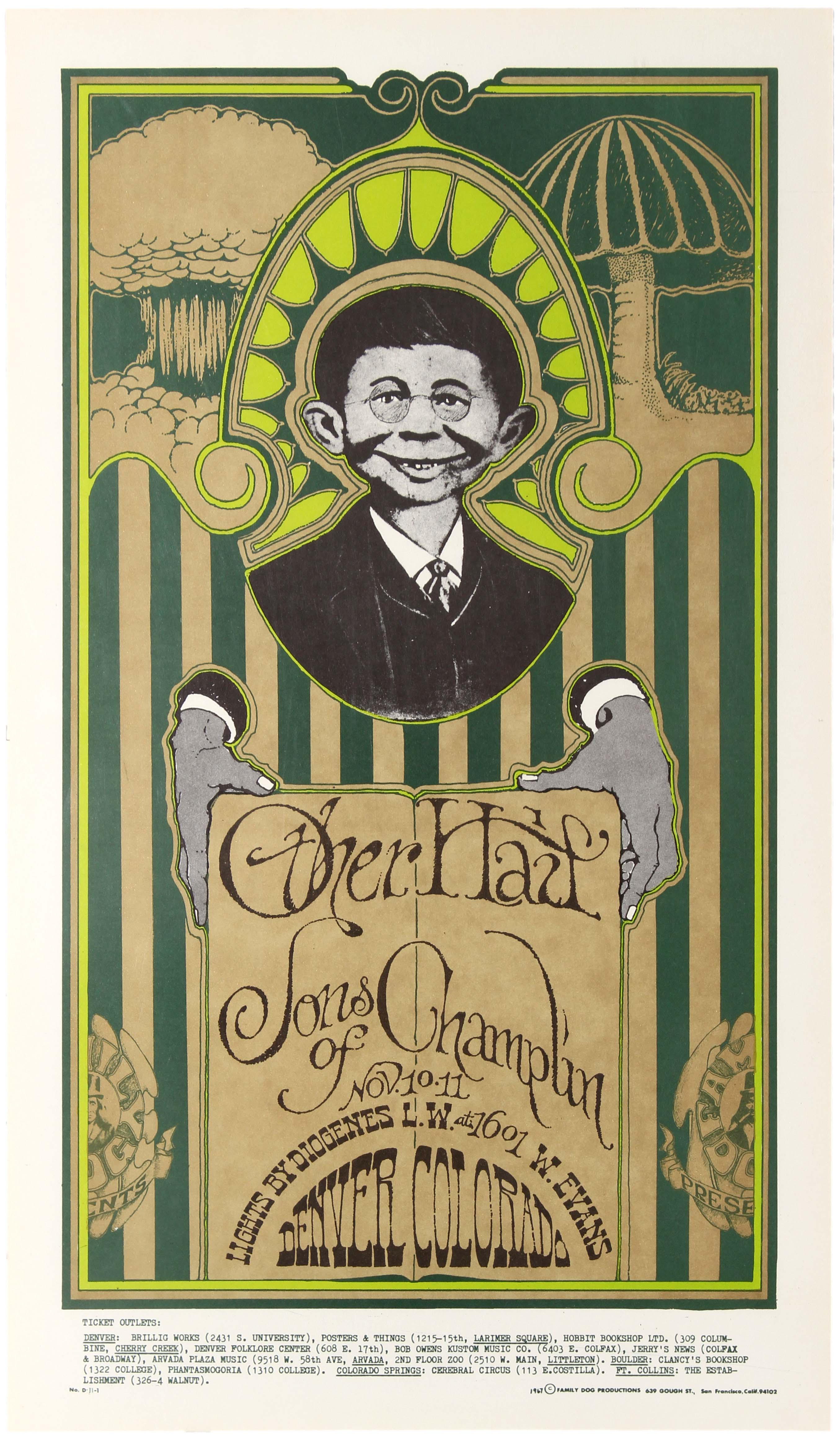 Lot 408 - Rock Concert Poster Other Half & Sons of Champlin