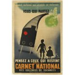 Advertising Poster To Summer Camps by Train
