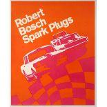 Advertising Poster Robert Bosch Spark Plugs Car Racing