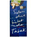 Advertising Poster Salem Cigarettes Herbert Leupin Midcentury Modern
