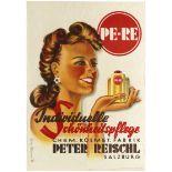 Advertising Poster Peter Reischl Beauty Care Cosmetics Art Deco