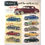 Advertising Poster Dodge Three Completely New Cars USA