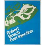 Advertising Poster Robert Bosch Fuel Injection Car Racing