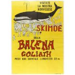 Advertising Poster Skimoe Goliath Whale Exhibition
