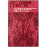Advertising Poster Art Nouveau Textiles London Victoria Albert Museum
