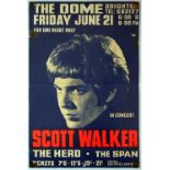 Advertising Poster Scott Walker Concert The Dome Brighton 1968