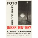 Advertising Poster Photo Exhibition USSR Space Rocket