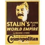 Advertising Poster Stalin World Empire Eugene Lyons Cosmopolitan