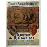 Advertising Poster Theatre Sarah Bernhardt Francesca de Rimini
