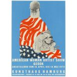 Advertising Poster American Woman Artist Show May Stevens Germany