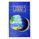 Travel Poster Cannes French Riviera Art Deco Cotes D Azur